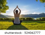 asian woman yoga for weight... | Shutterstock . vector #524062777