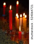 Soft Focused Of Candles Light....