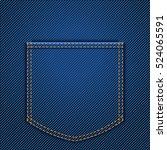 back jeans pocket | Shutterstock .eps vector #524065591