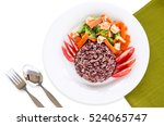 healthy homemade dish with... | Shutterstock . vector #524065747