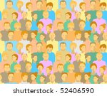 pattern with people | Shutterstock .eps vector #52406590