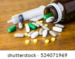 drug prescription for treatment ... | Shutterstock . vector #524071969