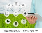 precision agriculture and... | Shutterstock . vector #524072179