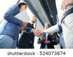 business people shaking hands ... | Shutterstock . vector #524073874