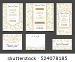 beautiful wedding set of... | Shutterstock .eps vector #524078185