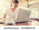 business entrepreneur asian... | Shutterstock . vector #524080519