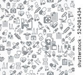 medical icons grey background.... | Shutterstock .eps vector #524081434