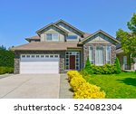 luxury family house with... | Shutterstock . vector #524082304
