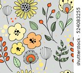 floral vector seamless pattern. ... | Shutterstock .eps vector #524083255