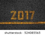asphalt background texture with ... | Shutterstock . vector #524085565