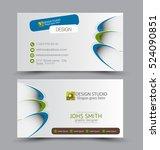 business card design set...   Shutterstock .eps vector #524090851