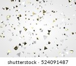 gold and white particles.... | Shutterstock . vector #524091487