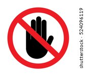 stop sign  no entry on white... | Shutterstock .eps vector #524096119