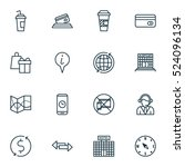 set of 16 travel icons. can be...