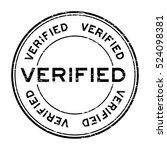 grunge black verified text... | Shutterstock .eps vector #524098381