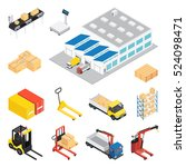 warehouse isometric icon set... | Shutterstock .eps vector #524098471