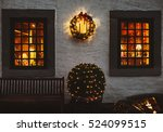 old european house decorated... | Shutterstock . vector #524099515