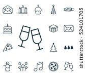 set of 16 new year icons. can... | Shutterstock .eps vector #524101705