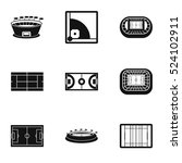 sports complex icons set.... | Shutterstock .eps vector #524102911