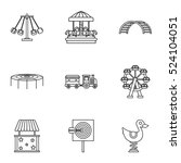 rides icons set. outline... | Shutterstock .eps vector #524104051