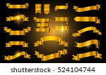 set of gold ribbons.vector... | Shutterstock .eps vector #524104744