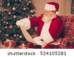 santa claus wearing red costume ... | Shutterstock . vector #524105281