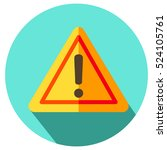 exclamation sign  danger sign ... | Shutterstock .eps vector #524105761