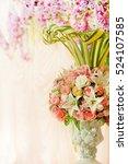 bouquet with wedding flowers | Shutterstock . vector #524107585