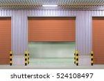 roller shutter door and... | Shutterstock . vector #524108497