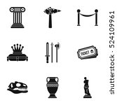 historical museum icons set.... | Shutterstock .eps vector #524109961