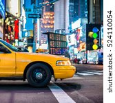 yellow cabs in manhattan  nyc.... | Shutterstock . vector #524110054