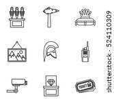 going to museum icons set.... | Shutterstock .eps vector #524110309
