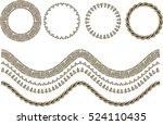 vector illustrator sequins... | Shutterstock .eps vector #524110435