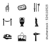 museum icons set. simple... | Shutterstock .eps vector #524110525