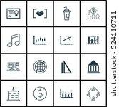 set of 16 universal editable... | Shutterstock .eps vector #524110711