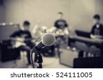 microphone on musician blurred... | Shutterstock . vector #524111005