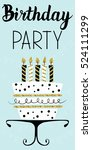 birthday party card with cake ... | Shutterstock .eps vector #524111299