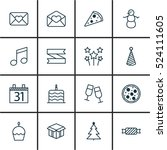 set of 16 celebration icons.... | Shutterstock .eps vector #524111605