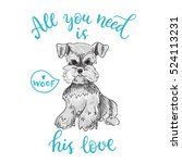 all you need is his love.... | Shutterstock .eps vector #524113231
