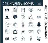 set of 25 universal editable... | Shutterstock .eps vector #524113405