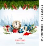 holiday background with... | Shutterstock .eps vector #524116531