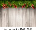 christmas decoration on old... | Shutterstock .eps vector #524118091