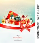 holiday christmas background... | Shutterstock .eps vector #524118109