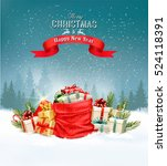 holiday christmas background... | Shutterstock .eps vector #524118391