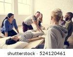 health wellness massage... | Shutterstock . vector #524120461
