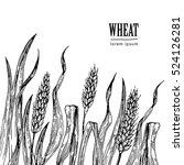 field of wheat vector...   Shutterstock .eps vector #524126281