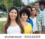 group of multicultural young...   Shutterstock . vector #524126329