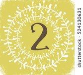christmas advent calendar set....   Shutterstock .eps vector #524130631