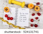new year resolutions or goals... | Shutterstock . vector #524131741