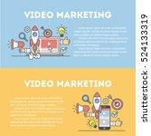 video marketing concept.... | Shutterstock .eps vector #524133319